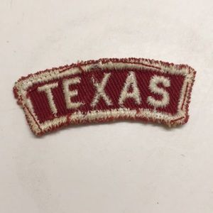 Other - Red and white TEXAS patch
